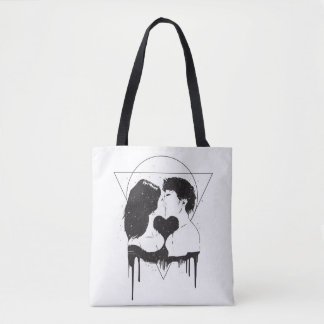 Cosmic love tote bag