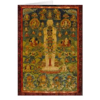 Cosmic Man Tibetan Yoga Thangka Card