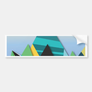 Cosmic Mountains No. 2.jpg Bumper Sticker