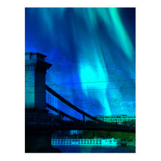 Cosmic Night in Budapest Postcard