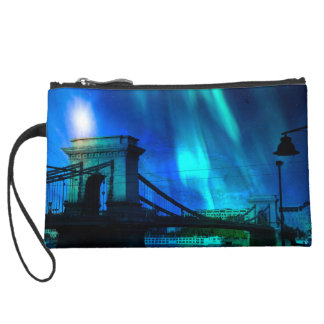 Cosmic Night in Budapest Wristlet Clutches