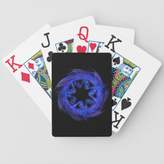 Cosmic Pinwheel Fractal Abstract purple Bicycle Playing Cards