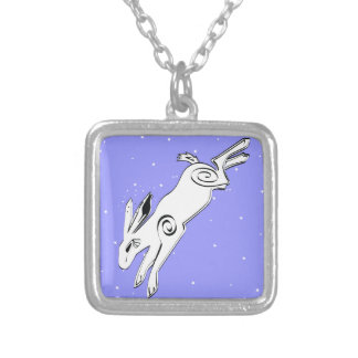COSMIC RABBIT SILVER PLATED NECKLACE