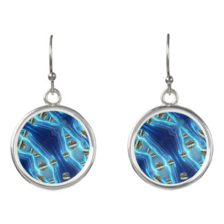 Cosmic Rain Floating Metal Drops Earrings