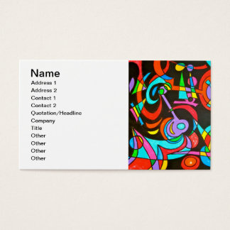 Cosmic Rays - Abstract Art Business Card