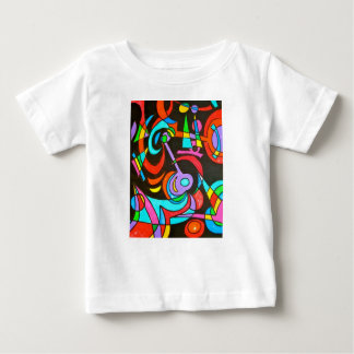 Cosmic Rays-Abstract Art Geometric Baby T-Shirt