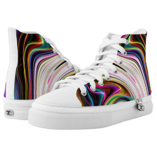 Cosmic Rays Color 3 Swirls Womens Shoes Printed Shoes