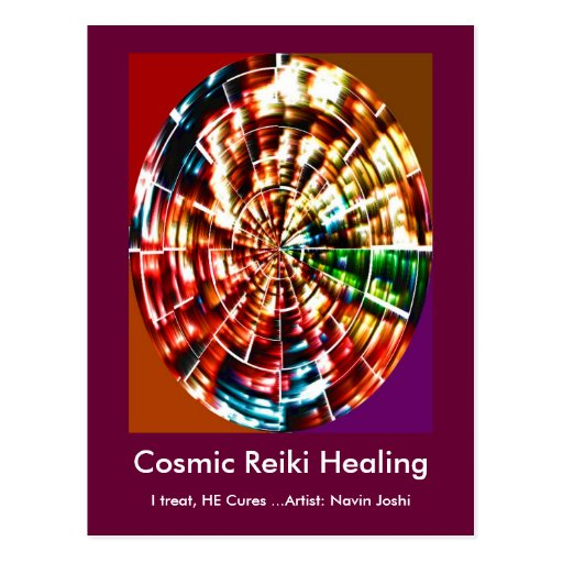 COSMIC REIKI HEALING POSTCARD