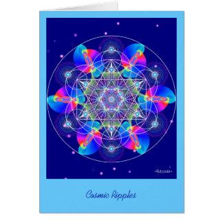 Cosmic Ripples Greeting Card