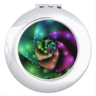 Cosmic Rose Fractal Compact Mirror