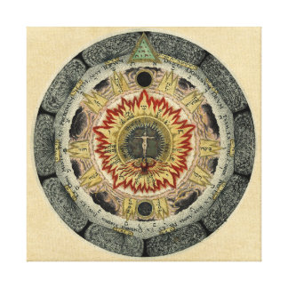 Cosmic Rose Mandala Canvas Print