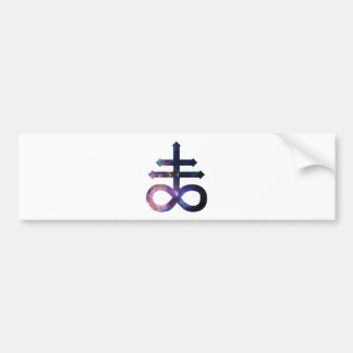 Cosmic Satanic Cross Bumper Sticker