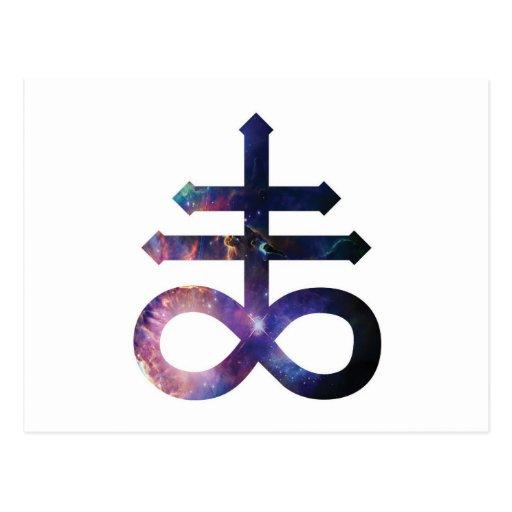 Cosmic Satanic Cross Post Card