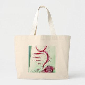 Cosmic Serpent Dance Large Tote Bag