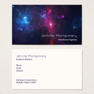 Cosmic Space Stars and Nebula Modern Business Card