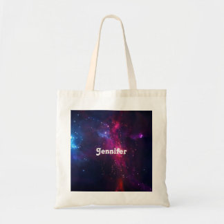 Cosmic Space Stars and Nebula Personalized Tote Bag