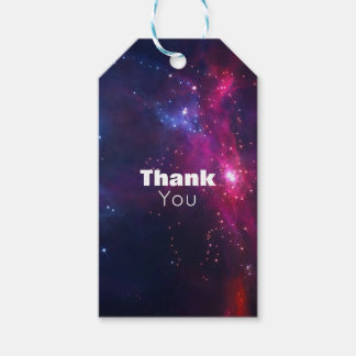 Cosmic Space Stars and Nebula Thank You Gift Tags