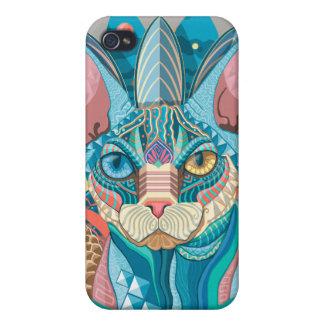 Cosmic Sphynx Cat iPhone 4 Covers