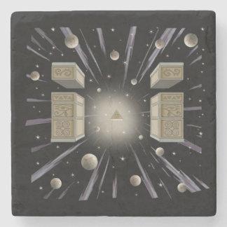 Cosmic,spiritual,metaphysical coaster. stone coaster