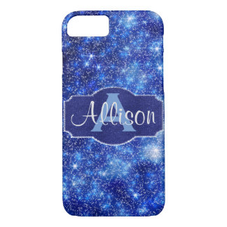 Cosmic Starry Night with Monogram & Name iPhone 8/7 Case