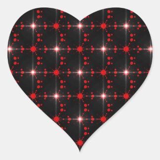 Cosmic Stars Heart Sticker