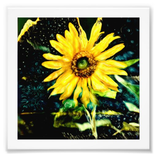 Cosmic Sunflower Original photograpy by slrussell Photo Art