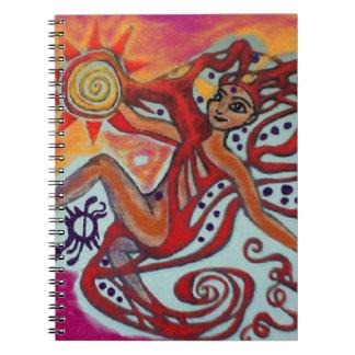 Cosmic Sunshine Spiral Note Book