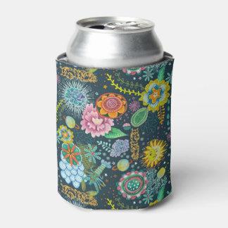 Cosmic Tarot Floral Pattern | Beverage Cooler