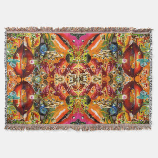 Cosmic Taste of Healing Artwork by Deprise Throw Blanket