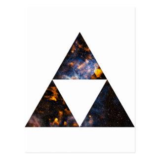 Cosmic Triangles Postcard