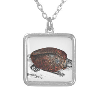 Cosmic turtle 1 silver plated necklace