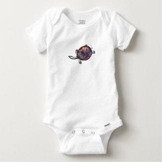 Cosmic turtle 3 baby onesie