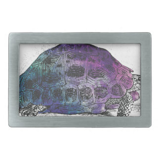 Cosmic turtle 4 rectangular belt buckles