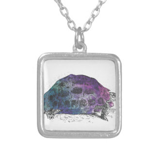 Cosmic turtle 4 silver plated necklace