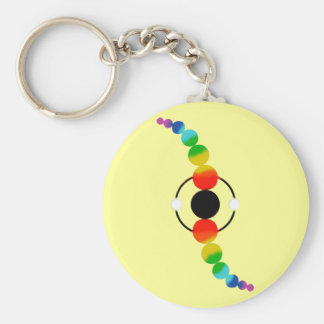 Cosmic Twist. Basic Round Button Key Ring