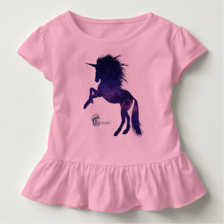 Cosmic Unicorn Toddler Ruffle Tee