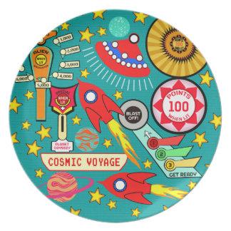 Cosmic Voyage Pinball Plate