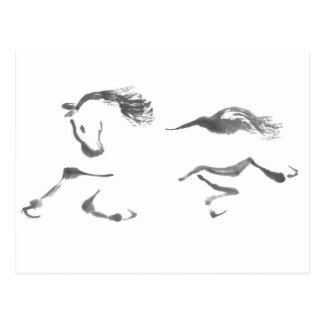 Cosmic Wanderer, Sumi-e Year of the Horse Postcards