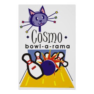 Cosmo bowl-a-rama poster