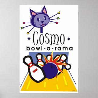 Cosmo bowl-a-rama poster