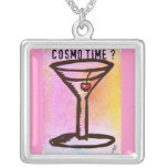 COSMO TIME MARTINI PRINT by Jill Get your party on Personalized Necklace