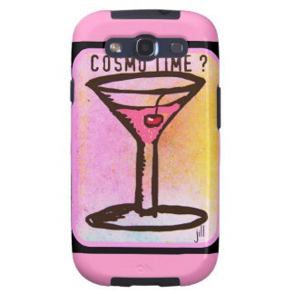 COSMO TIME PINK MARTINI PRINT GALAXY S3 CASES