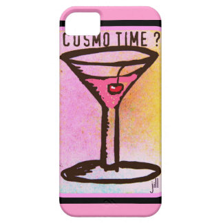 COSMO TIME PINK MARTINI PRINT iPhone 5 COVER