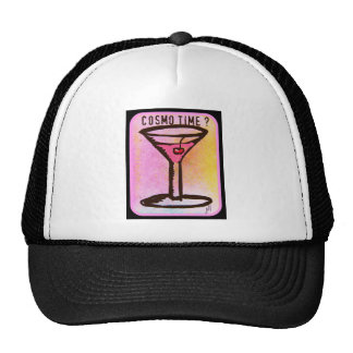 COSMO TIME PINK MARTINI PRINT HAT