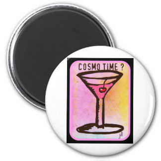 COSMO TIME PINK MARTINI PRINT MAGNET