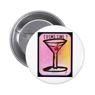 COSMO TIME PINK MARTINI PRINT PINBACK BUTTONS