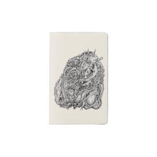 Cosmographic Head by Brian Benson Pocket Moleskine Notebook