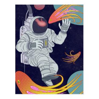 Cosmonaut Postcard