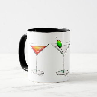 Cosmopolitan Martini Manhattan Cocktail Drinks Mug