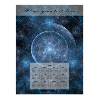 Cosmos Background 001 - Calendar 2018 Poster